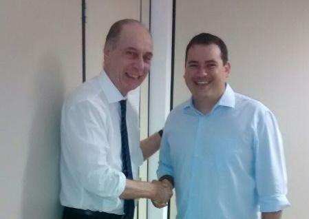 Secretário Ricardo Lagreca e Beto Rosado